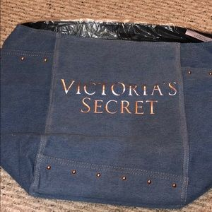 NWT Victoria's Secret denim tote